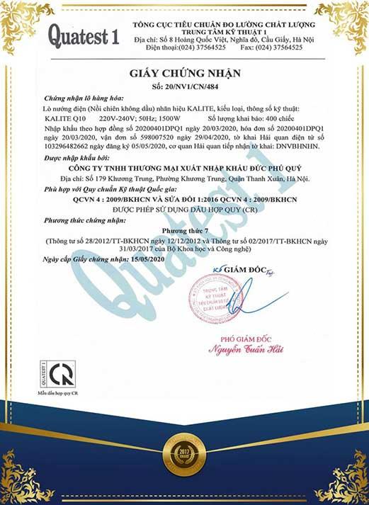 Giấy-chứng-nhận-nồi-chiên-không-dầu-Kalite-Q10